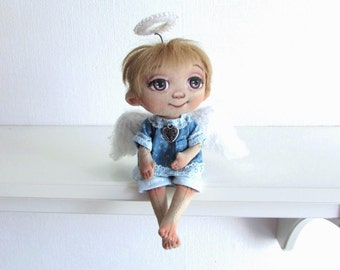 Rag Doll, Angel Doll, textile Doll, Girl Gift, Handmade doll,Gift to a woman