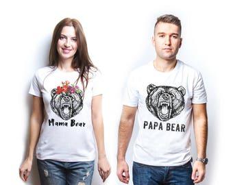 Mama bear papa bear shirt mama bear shirt papa bear shirt papa bear t shirt papa bear tshirt papa bear mama bear tshirt mama bear man cub