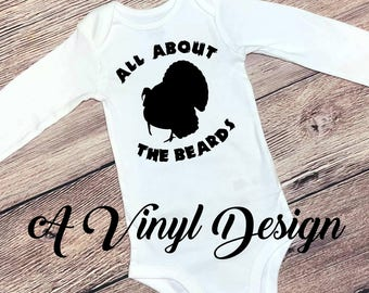 All About The Beards Turkey Hunting Baby Bodysuit