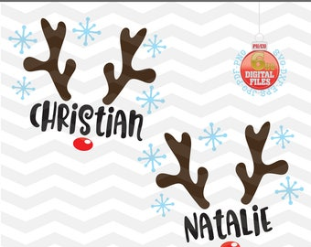 Reindeer Svg - Reindeer face Cut Files - Christmas Reindeer SVG - Reindeer Name Svg - Christmas SVG - Xmas svg - Cutting File - Deer Svg