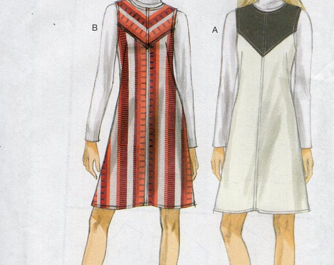 FREE US SHIP Vogue 9122 Sewing Pattern Dress Jumper Lined Size 6/14 14/22 Bust 30 32 34 36 38 40 42 44 Uncut New