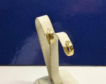 Earrings hoops gold 333 noble vintage rar teildiamantiert OR117