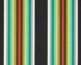 Tula Pink Chipper Tick Tock Stripe Mint; 1/2 yd cotton woven fabric