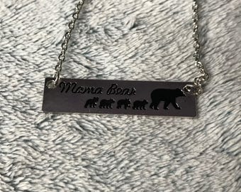 Mamma Bear and Baby Cubs Necklace