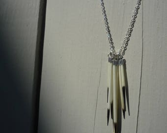 Cluster porcupine Quill necklace
