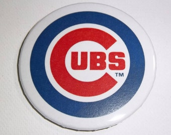"Chicago Cubs Baseball Pin-back Button, 1.25"" or 2.25"" Buttons, Metal Pin, 2016 World Series Champions!!!!!!"