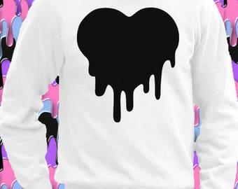 "Heart Sweatshirt style ""Pastel Goth"" UNISEX"