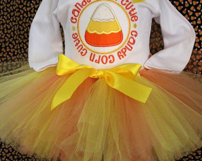Halloween baby girl outfit,Candy Corn Cutie,Halloween tutu,Yellow and orange tutu,Halloween headband,Halloween costume,girls Halloween shirt