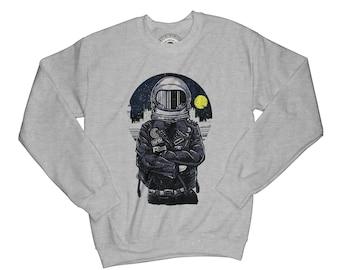 Punk sweatshirt astronaut sweatshirt cosmos sweatshirt moon sweatshirt hipster sweatshirt goth sweatshirt aesthetic pullover    AP57