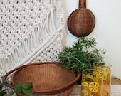 Vintage Round Basket with Handles