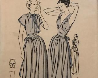 Rare Butterick 1940s Nightgown Pattern, B36