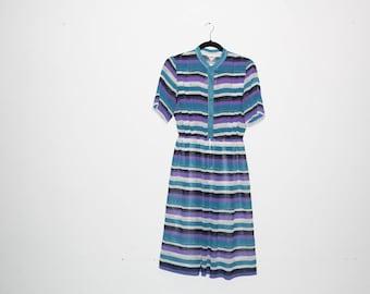 VINTAGE 80's Striped Dress