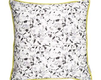 Terrazzo Cushion in Monochrome
