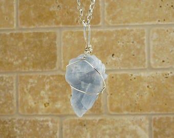 Blue Calcite necklace