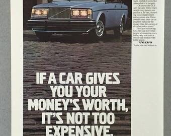 1981 Volvo GLE Print Ad