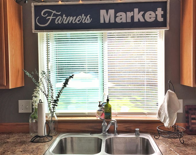 Farmers Market   Farmers Market Decor   Farmers Market Sign   Large  Farmhouse Sign   Large