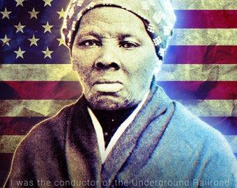 Harriet Tubman Poster Underground Railroad Classroom Quote (18x24)