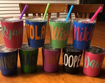 Kids Stainless Steel Tumbler; Kids Tumbler; Kids Insulated Cup; Double Walled Tumbler; Small Insulated Tumbler; Tumbler with Lid and Straw