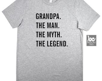 Grandpa. The Man. The Myth. The Legend. Shirt,T-Shirt,GPA Gifts ,Gift for Him ,Grandpa,Gramps,Grandfather,Dad Shirt,Grandpa Shirt,Dad Shirt