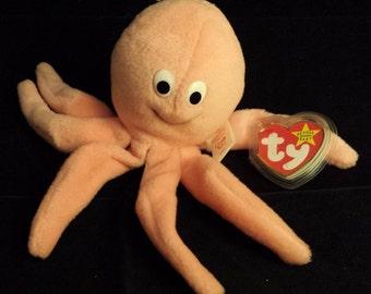 TY Beanie Baby - Octopus, Inky - November 29, 1994