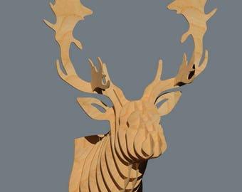 Deer heads (3X pack) - Digital files