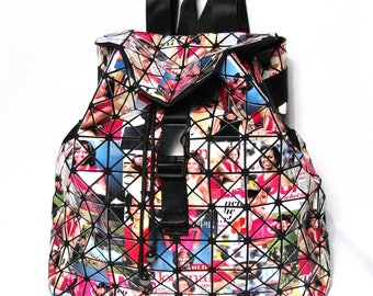 Glossy Colorful First Michelle Obama Prism Luxe Backpack