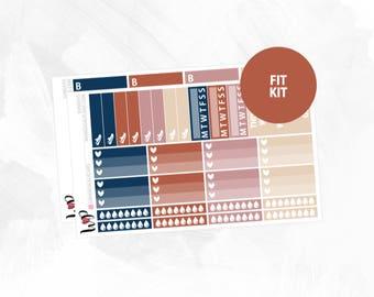 Sundays Fit Kit | Matte Glossy Planner Stickers