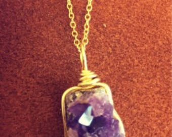 Small Amethyst Cluster Necklace