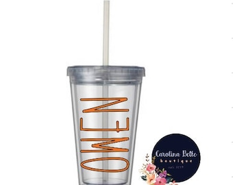 KIDS Personalized Clear Tumbler