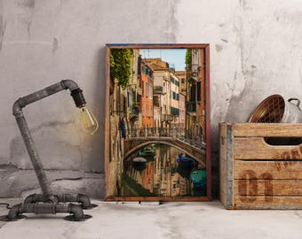Venice Canal Digital Print Ready File