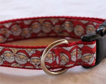 "1"" Jolly Santa Dog Collar - Side Release Buckle"