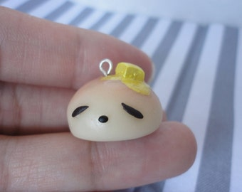 Cute Dinner Roll with Melting Butter Polymer Clay Charm Accessory