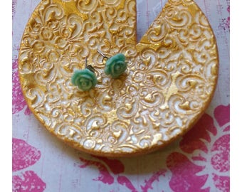 Gold Jewelry Ring Dish