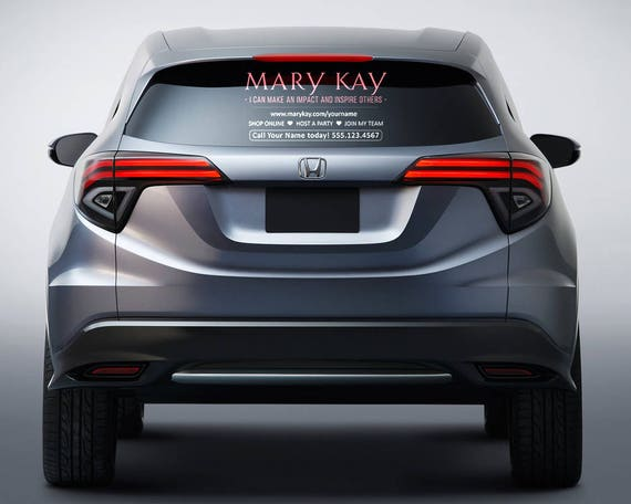mary kay car decal large 20 x 12. Black Bedroom Furniture Sets. Home Design Ideas