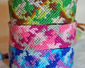 Colorful Camo Friendship Bracelets