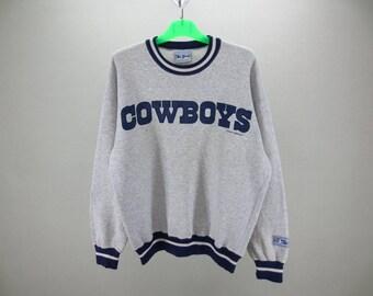 Cowboys Sweatshirt Vintage Dallas Cowboys Pullover 90s Cowboys Vintage NFL Sweat by The Game Mens Size M