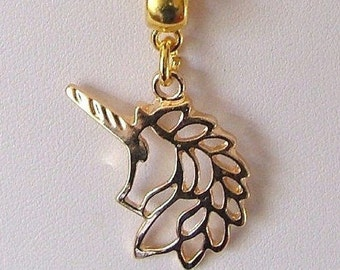 Golden Unicorn Pendant Clavicle Necklace