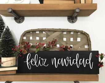 Feliz Navidad - Wood Sign