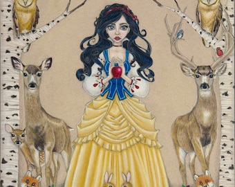 Snow white limited edition fairy tale print