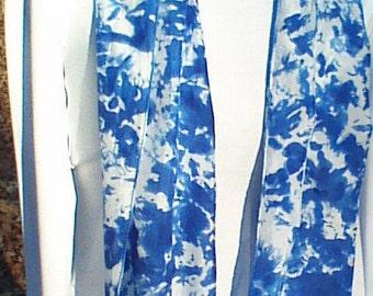 handmade silk scarf/silk scarf blue /scarves silk/royal blue scarves/scarf blue/silk scarves/accessories scarves/tie-dyed silk scarf/wraps
