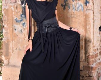 Women Skirt, Black Skirt, Silk Skirt, High Waist Skirt, Plus Size Maxi