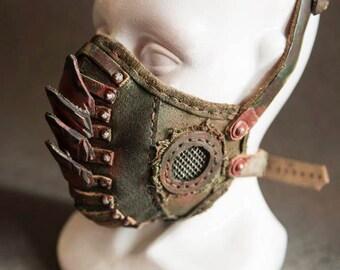 Masque à gaz - cadeau pour les hommes - Mens Armor - accessoires - bombe atomique - horreur - Creepy - Rocker - métal - New Age - masque en cuir