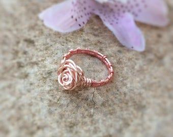 Rose ring etsy