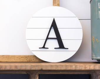 Wooden Monogram Sign, Initial Sign, Personalized Initial Sign, Home Decor Signs, Housewarming gift, Personalized monogram, Personalized sign