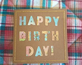 Happy Birthday around the world card