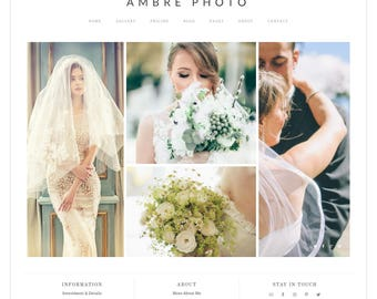 "WordPress Theme – Photography Theme – Photography Template – Photography Website – Photographer Theme – Genesis Theme – ""Ambre Photo"""