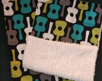 Baby Boy Guitar Burp Cloth