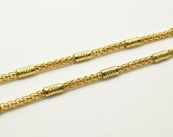 """Gold Filled Chain 18Kt Gold Filled Size 17"""" Long 3mm Width Item #CG121"""