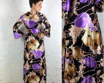 1970s Handmade Classic Psychedelic Maxi Dress Party Piece