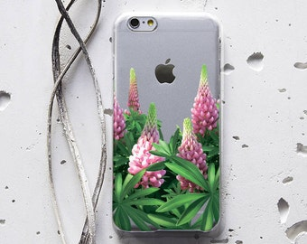 Flowers iPhone 6s Case Samsung Galaxy S5 Case iPhone 6 Clear Case Floral iPhone 5 Case iPhone Phone 7 Plus Case S7 Case Protective Case 074
